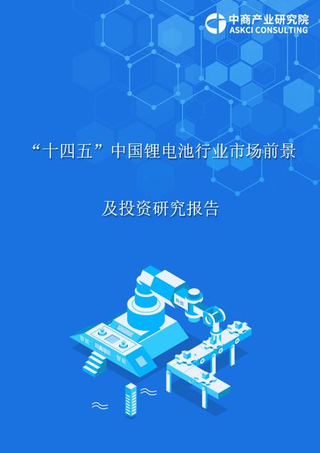 """2021年""""十四五""""中国锂电池行业市场前景及投资研究报告"""