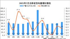 2021年7月吉林省发电量数据统计分析