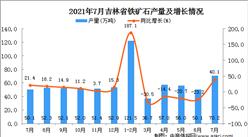 2021年7月吉林省铁矿石产量数据统计分析