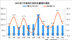 2021年7月黑龙江发电量数据统计分析