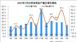 2021年7月江西省原鹽產量數據統計分析