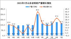 2021年7月山东省铝材产量数据统计分析