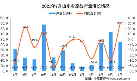 2021年7月山东省原盐产量数据统计分析