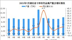 2021年7月湖北省十种有色金属产量数据统计分析