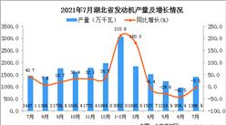 2021年7月湖北省發動機產量數據統計分析