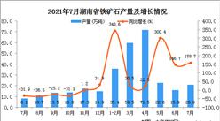 2021年7月湖南省鐵礦石產量數據統計分析