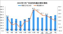 2021年7月广东省发电量数据统计分析