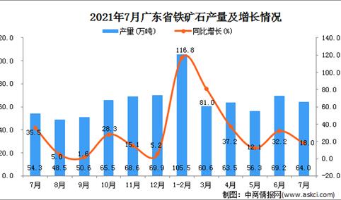 2021年7月广东省铁矿石产量数据统计分析