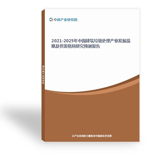 2021-2025年中国建筑垃圾处理产业发展战略及供需格局研究预测报告