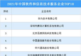 2021年中国软件和信息技术服务企业TOP100(图)