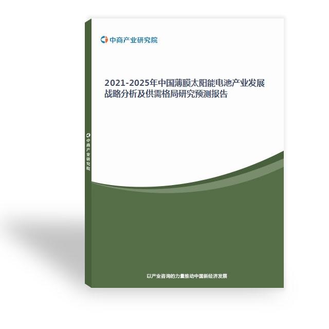 2021-2025年中国薄膜太阳能电池产业发展战略分析及供需格局研究预测报告