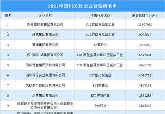 2021年四川民营企业百强排行榜