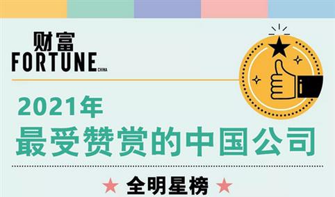 2021年《财富》最受赞赏的中国公司top50(附榜单)