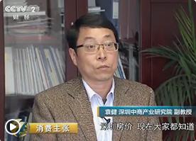 央視財經頻道采訪中商產業研究院袁健教授